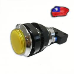 Boton LED Amarillo Cromado